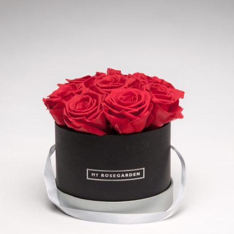 Rosenbox rund 8 Rosen