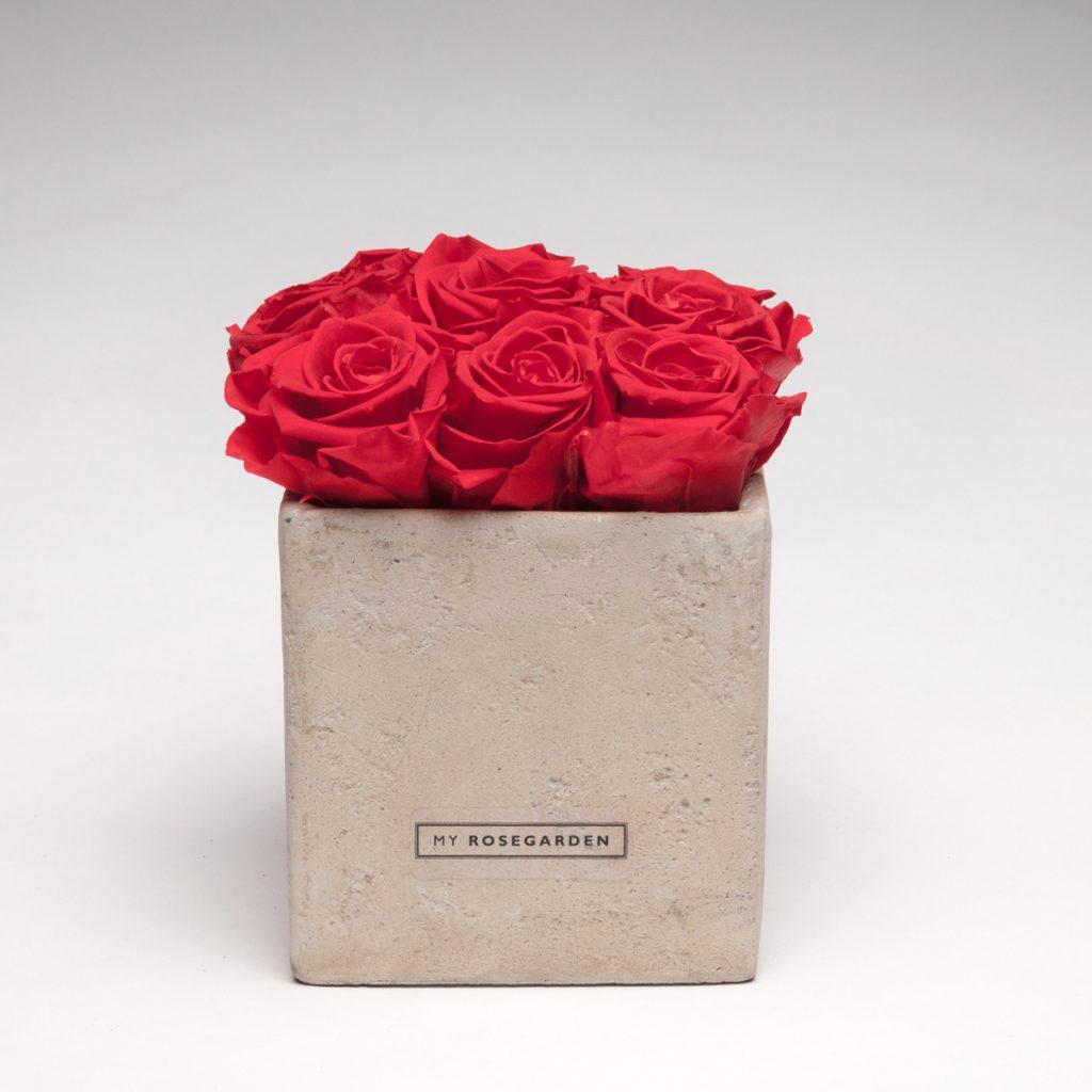 Rosenwürfel 9 Rosen in Betonoptik grau